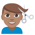 Man Getting Haircut: Medium Skin Tone on EmojiOne 3.1
