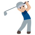 Man Golfing: Medium-Light Skin Tone on EmojiOne 3.1