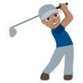 Man Golfing: Medium Skin Tone on EmojiOne 3.1