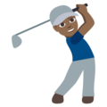 Man Golfing: Medium-Dark Skin Tone on EmojiOne 3.1