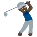 Man Golfing: Dark Skin Tone on EmojiOne 3.1