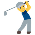 Man Golfing on EmojiOne 3.1