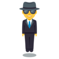 Man in Business Suit Levitating on EmojiOne 3.1