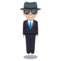 Man in Business Suit Levitating: Medium-Light Skin Tone on EmojiOne 3.1