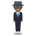Man in Suit Levitating: Medium-Dark Skin Tone on EmojiOne 3.1
