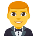 Man in Tuxedo on EmojiOne 3.1