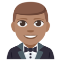 Man in Tuxedo: Medium Skin Tone on EmojiOne 3.1