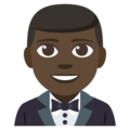Man in Tuxedo: Dark Skin Tone on EmojiOne 3.1