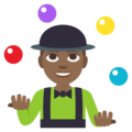 Man Juggling: Medium-Dark Skin Tone on EmojiOne 3.1