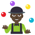 Man Juggling: Dark Skin Tone on EmojiOne 3.1