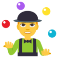 Man Juggling on EmojiOne 3.1