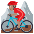 Man Mountain Biking: Medium Skin Tone on EmojiOne 3.1