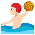 Man Playing Water Polo: Light Skin Tone on EmojiOne 3.1
