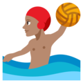 Man Playing Water Polo: Medium Skin Tone on EmojiOne 3.1
