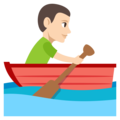 Man Rowing Boat: Light Skin Tone on EmojiOne 3.1
