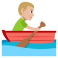 Man Rowing Boat: Medium-Light Skin Tone on EmojiOne 3.1