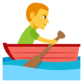 Man Rowing Boat on EmojiOne 3.1