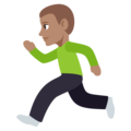 Man Running: Medium Skin Tone on EmojiOne 3.1