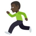 Man Running: Dark Skin Tone on EmojiOne 3.1