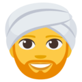 Man Wearing Turban on EmojiOne 3.1