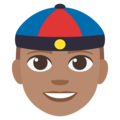 Man With Chinese Cap: Medium Skin Tone on EmojiOne 3.1