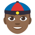 Man With Chinese Cap: Medium-Dark Skin Tone on EmojiOne 3.1