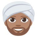 Person Wearing Turban: Medium Skin Tone on EmojiOne 3.1