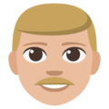 Man: Medium-Light Skin Tone on EmojiOne 3.1