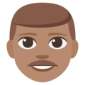 Man: Medium Skin Tone on EmojiOne 3.1