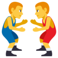 Men Wrestling on EmojiOne 3.1