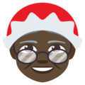 Mrs. Claus: Dark Skin Tone on EmojiOne 3.1