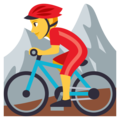 Person Mountain Biking on EmojiOne 3.1