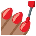 Nail Polish: Medium Skin Tone on EmojiOne 3.1
