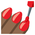 Nail Polish: Medium-Dark Skin Tone on EmojiOne 3.1