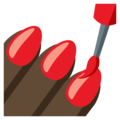 Nail Polish: Dark Skin Tone on EmojiOne 3.1