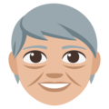 Older Adult: Medium-Light Skin Tone on EmojiOne 3.1