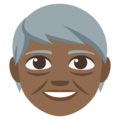 Older Adult: Medium-Dark Skin Tone on EmojiOne 3.1
