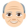 Old Man: Light Skin Tone on EmojiOne 3.1