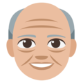 Old Man: Medium-Light Skin Tone on EmojiOne 3.1