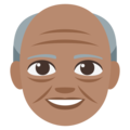 Old Man: Medium Skin Tone on EmojiOne 3.1