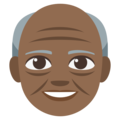 Old Man: Medium-Dark Skin Tone on EmojiOne 3.1