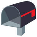 Open Mailbox With Lowered Flag on EmojiOne 3.1