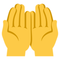 Palms Up Together on EmojiOne 3.1