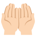 Palms Up Together: Light Skin Tone on EmojiOne 3.1