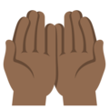 Palms Up Together: Medium-Dark Skin Tone on EmojiOne 3.1