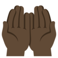 Palms Up Together: Dark Skin Tone on EmojiOne 3.1