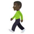 Person Walking: Dark Skin Tone on EmojiOne 3.1