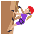 Person Climbing: Medium-Light Skin Tone on EmojiOne 3.1