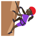 Person Climbing: Dark Skin Tone on EmojiOne 3.1