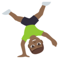 Person Cartwheeling: Medium-Dark Skin Tone on EmojiOne 3.1